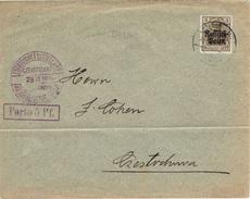 CZESTOCHOWA - Poste Locale Imprimé 29 Juin 1916 Fischer N° 2e Violet - Pliure - ....-1919 Übergangsregierung