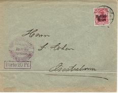 CZESTOCHOWA - Poste Locale Lettre 29 Juin 1916 Fischer N° 2g Violet - Pliure - ....-1919 Provisional Government