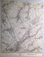 CARTE D ETAT MAJOR 40/6 De 1904 GEMBLOUX ERNAGE WALHAIN ST-PAUL SAUVENIERE TOURINNES-SAINT-LAMBERT PERBAIS ORBAIS S728 - Gembloux