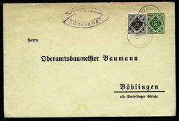 A4751) AD Württemberg Vordruckbrief Oberamtsbaumeister Böblingen - Wurttemberg