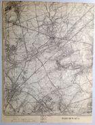 CARTE D ETAT MAJOR 47/1 De 1904 FLEURUS SOMBREFFE LIGNY BRYE BALATRE BOIGNEE  TONGRINNE WANFERCEE-BAULET VELAINE S736 - Fleurus