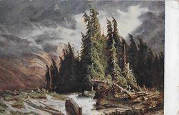 PRO JUVENTUTE KARTE 1923 → Gewitter Auf Der Handeck (Alexandre Calame 1810-1864) - Lettres & Documents