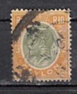 Ceylon  Edouard VII  YT N°252  10r Jaune Et Vert - Ceylan (...-1947)