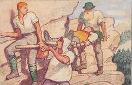 1921 BUNDESFEIER-POSTKARTE → Verwundetentransport  ►SBK-34◄ - Entiers Postaux
