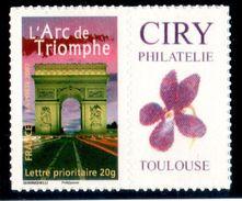 ARC DE TRIOMPHE ADHESIF  N° 3599B YVERT & N°73 MAURY COTE 45 EUROS SUR MAURY 2017 RARE - Personnalisés