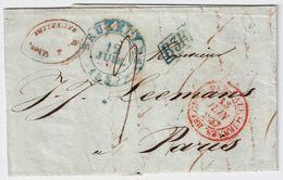"""1837, """" BUXELLES """" Bleue """" B. 3 R """" , #8553 - 1830-1849 (Belgique Indépendante)"""
