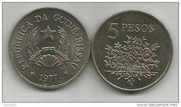 Guinea-Bissau 5 Pesos 1977. KM#20 - Guinea-Bissau