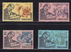 Charles Dickens - Michel N° 247/250 - XX - Cote 1.90 Euro - Turks & Caicos (I. Turques Et Caïques)