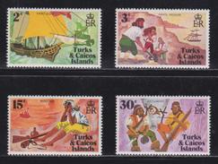 Turks & Caicos Islands - Pirats - Michel N° 278/281 - XX - Cote 2.50 Euro - Histoire