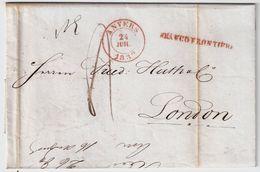 """1839, """" ANVERS """" , Verso """" SHIP-LETTER """"   , #8555 - 1830-1849 (Belgique Indépendante)"""