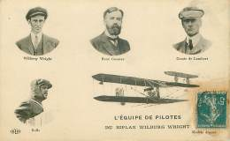 Aviation .n° 33100 . L Equipe De Pilotes Du Biplan Wilburg Wright - Aviateurs