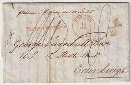 """1839, """" ANVERS """" , Pour Edinburgh!   , #8556 - 1830-1849 (Belgique Indépendante)"""