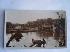 Malaysia // On The Banks Of The Malacca River (photocard - Carte Photo) 19?? - Malasia