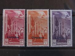 """ITALIA Cirenaica Aerea -1932- """"Tripolitania Sopr."""" Cpl. 3 Val. MNH** (descrizione) - Cirenaica"""