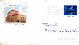 Pap Magritte Flamme Pont De Cheruy  Illustré Mairie - Biglietto Postale