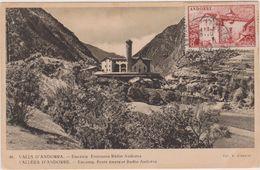 Carte Postale Ancienne,ANDORRE,EN 1952,PYRENEES,PRES ESPAGNE,FRANCE,ENCAMP,POSTE EMETEUR RADIO,PAREAGE - Andorra