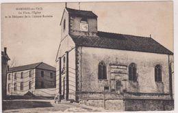 Carte Postale Ancienne,88,vosges,MANDRES SUR VAIR,EN 1935,lorraine,pres NEUFCHATEAU,ECOLE,EGLISE, HABITANT - France