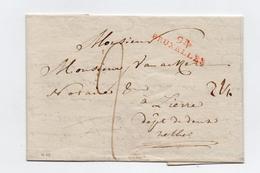 !!! PRIX FIXE : DEPT CONQUIS, 94 DEPARTEMENT DE LA DYLE, MARQUE POSTALE DE BRUXELLES / LETTRE DE 1804 - Poststempel (Briefe)