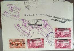 XZ11 Lebanon 1928 Scarce Cover Beirut RUE BLISS Franking, To Houstan, Returned - Lebanon