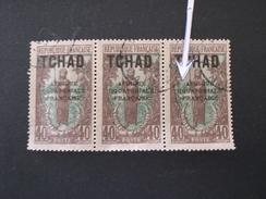 """TCHAD CHAD 1924 Femme Bakalois Overprinted """"AFRIQUE EQUATORIALE FRANCAISE"""" ERROR """"E"""" Of Equatorial """"K"""" - Oblitérés"""