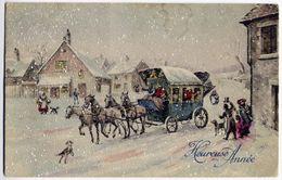 Heureuse Année Edit. Brocherioux Voyagé En 1920 - Nouvel An