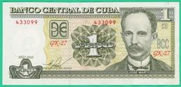 1 Peso - Cuba - 2010 - N° 433099 GK27 - TTB - - Cuba