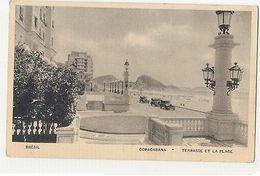 RIO DE JANEIRO - COPACABANA - TERRASSE & PLAGE - EDIT LITO TIPO GUANABARA (1782) - Cartes Postales