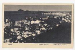 RIO DE JANEIRO - COPACABANA - LA NUIT - EDIT LITO TIPO GUANABARA ( 1787 ) - Cartes Postales