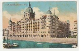 INDIA - BOMBAY - TAJ MAHAL PALACE HOTEL - STAMP - 1910s ( 1954 ) - Postcards
