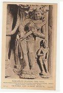 INDIA - BIHAR SCHOOL - SARAWATI PLAYING THE VINA - 1910s ( 1918 ) - Postcards