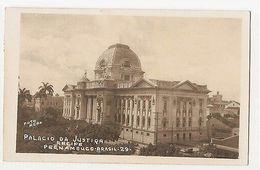 BRAZIL - PERNAMBUCO - PALACIO DE JUSTICA - FOTO REAL - RPPC 1938 ( 1765 ) - Postcards