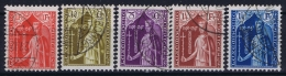 Luxembourg: Mi.nr. 245 - 249, Yv 239-243 Used Obl - Luxembourg
