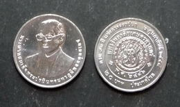 Thailand Coin 20 Baht 2014 72th Kasetsart University Constitution (#59) UNC - Thailand
