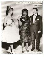 """  HELLO  AMERICA  ""  LAS  VEGAS  /  ELLA  FITZGERALD  Chanteuse  De  Jazz  /  JIM  CUNY  Et  MARION - Personalità"