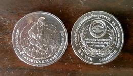 Thailand Coin 20 Baht 2015 HM King Bhumibol Humanitarian Soil Scientist Award (#62) UNC - Thailand