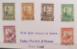XZ3 Portugal GOA India Colony 1938 Cplte Set Vasco Da Gama +2 Stmps Albuquerque - Portuguese India