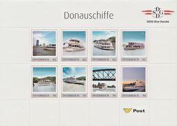 PM - Markenbogen - Markenedition 8 - DDSG - DONAUSCHIFFE - POSTFRISCH ** / MNH - Österreich