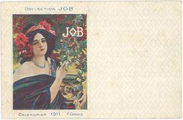 Cpa Illustrateur - Collection JOB, Calendrier 1911, P. Gervais ( ILL ) - Autres Illustrateurs