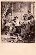 UNE PARTIE D´ ÉCHECS / CHESS PLAYING : ADELHEID By W. Von KAULBACH - F.A. ACKERMANN'S KUNSTVERLAG MÜNCHEN ~ 1910 (w-520) - Chess