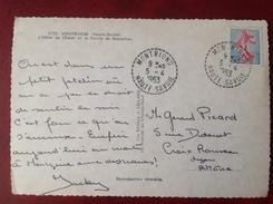 Cachet Perlé MONTRIOND Cpa Hotel Du Chalet - Handstempels