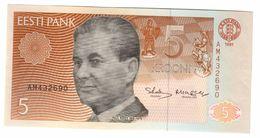 Estonia 5 Krooni 1991 UNC - Estonia
