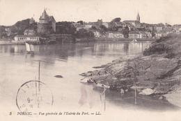 44. PORNIC. CPA. VUE GÉNÉRALE DE L'ENTRÉE DU PORT. ANNÉE 1922 - Pornic