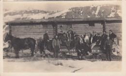 Canada, Men And Woman On White Pass & Yukon Horse-drawn Sledge, C1910s Vintage Real Photo Postcard - Yukon