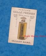 Petit Carton Publicitaire De Parfums - Parfumerie GELLé Frères à Paris - Parfum OEILLET RARE - Publicités