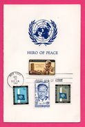 Encart - FDC - New York - Hero Of Peace - Dag Hammarskjold - J.F.K. - 1962 - 1961-1970