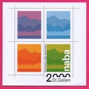 Encart - FDC - Saint Gallen - Naba - Faszination Des Sammelns - Boules à Neige - 2000 - FDC