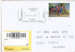 ZARAGOZA CC CERTIFICADA SELLO TAPIZ TEXTIL ARTE - Textiles