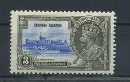 HONG  KONG   1935    Silver  Jubilee  3d  Ultramarine  And  Grey    MH - Grenada (...-1974)