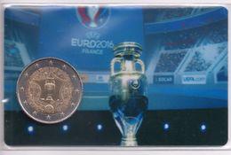COUPE  Du  MONDE  FOOTBALL  COINCARD : Piéce  NEUVE  2 Euros  2016   ** édition Privée **   Port  OFFERT  - - France