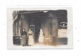 Carte Photo à Identifier : Devanture Café, A LA RENOMMEE DES .......   Bons Vins D' Anjou - Cartes Postales